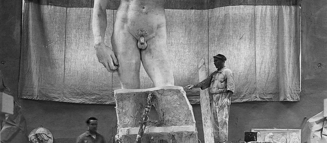 galleria bazzanti fonderia marinelli firenze gipsoteca calco david michelangelo originale
