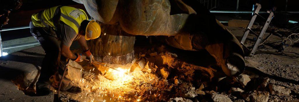 fonderia marinelli galleria bazzanti fontana tritoni malta bronzo restauro