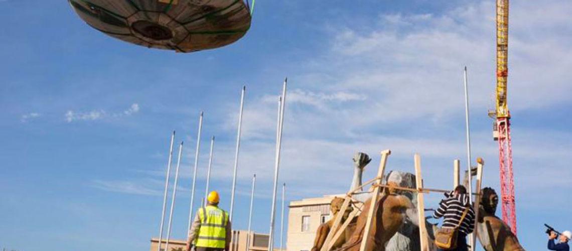 fonderia marinelli galleria bazzanti fontana tritoni malta bronzo restauro smontaggio bacino