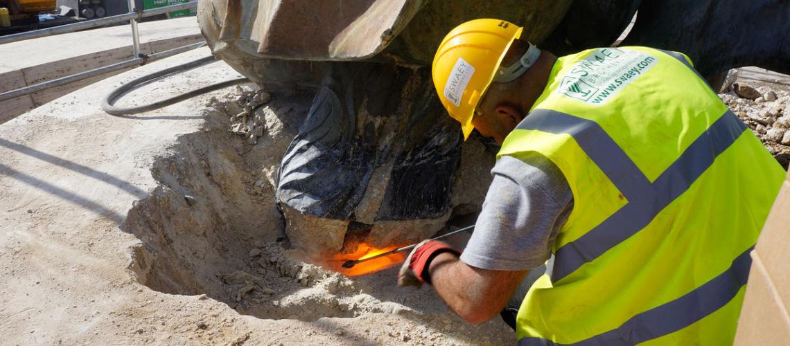 fonderia marinelli galleria bazzanti fontana tritoni malta bronzo restauro smontaggio tritoni