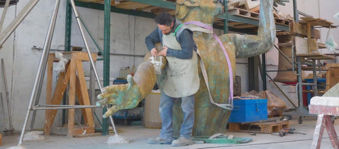 fonderia marinelli galleria bazzanti fontana tritoni malta bronzo restauro analisi lega metallo