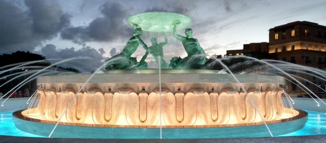 fonderia amrinelli galleria bazzanti restauro fontana tritoni malta bronzo