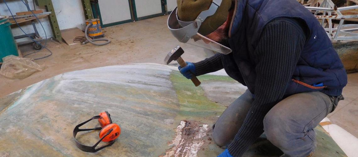 galleria bazzanti fonderia marinelli firenze restauro fontana tritoni in bronzo malta stuccature