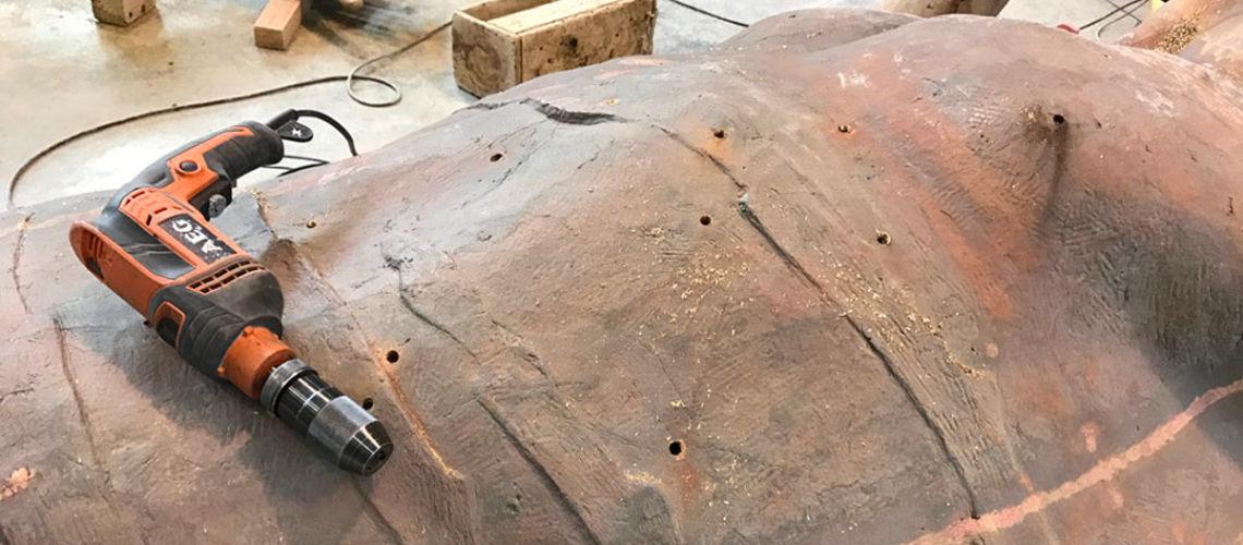galleria bazzanti fonderia marinelli firenze restauro fontana tritoni in bronzo malta buchi