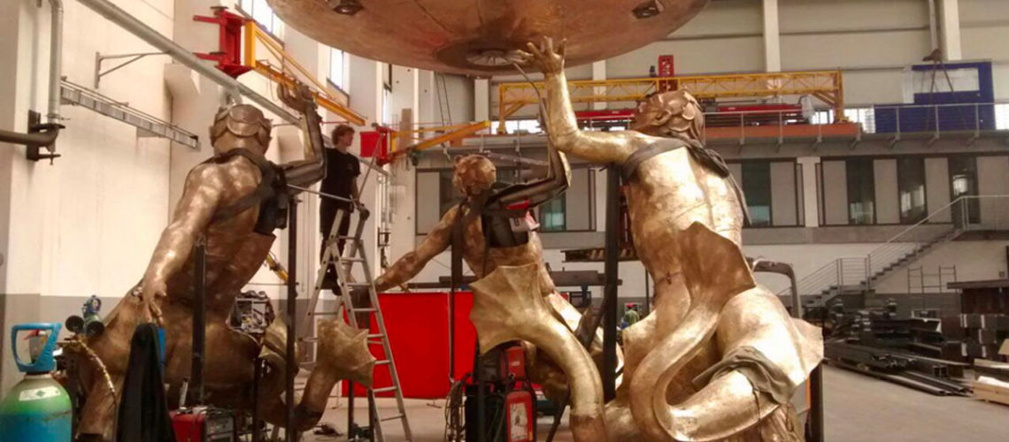 galleria bazzanti fonderia marinelli firenze restauro fontana tritoni in bronzo malta montaggio