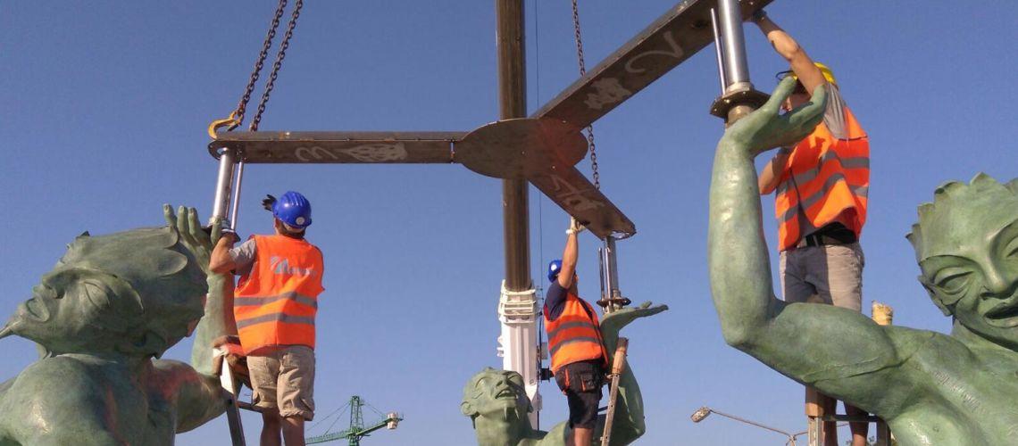 galleria bazzanti fonderia marinelli firenze restauro fontana tritoni in bronzo malta rimontaggio
