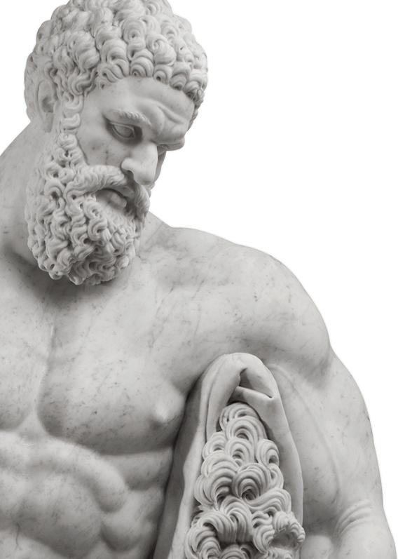galleria bazzanti firenze ercole farnese farnese hercules marmo bianco di carrara scolpito a mano white carrara marble hand carved in vendita for sale