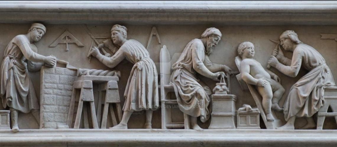galleria-bazzanti-fonderia-marinelli-firenze-florence-donatello-putti-bronze-marble-orsanmichele