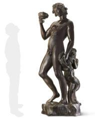 bacco-michelangelo-bronzo-silhouette