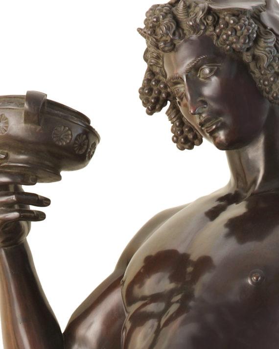 replica scultura bacco di michelangelo in bronzo fuso a cera persa dalla fonderia artistica ferdinando marinelli di firenze e in vendita presso la galleria bazzanti di firenze