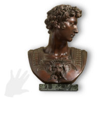busto-giuliano-de-medici-michelangelo-bronzo-silhouette