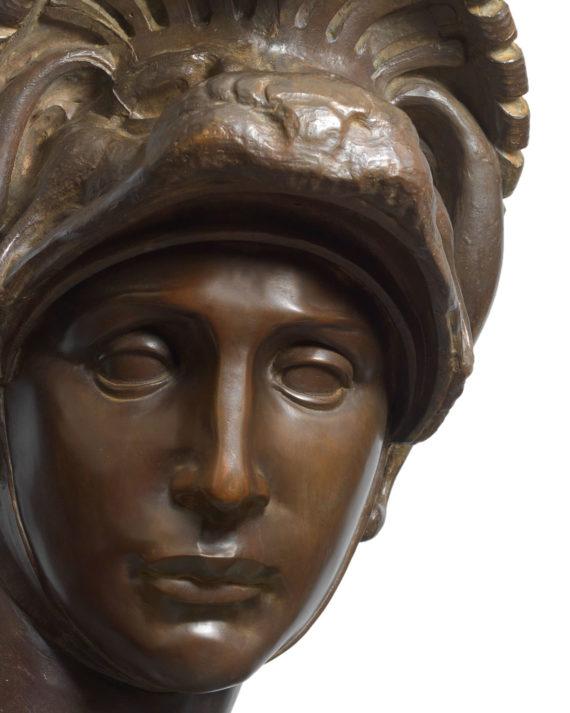 replica scultura busto lorenzo de medici bronzo fuso dalla fonderia marinelli in vendita presso la galleria bazzanti di firenze