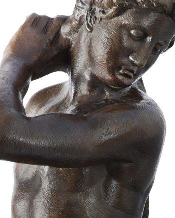 scultura david apollo bronzo di michelangelo fuso dalla fonderia marinelli e in vendita presso la galleria bazzanti di firenze