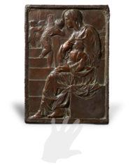maddonna-della-scala-michelangelo-bronzo-silhouette