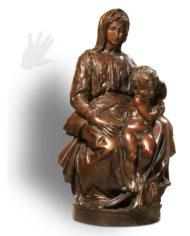madonna-bruges-michelangelo-bronzo-silhouette