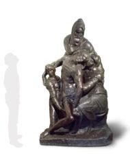 pieta-bandini-michelangelo-bronzo-silhouette