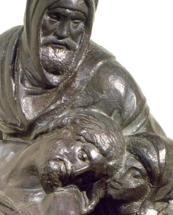 replica in bronzo scultura pietà bandini di michelangelo fusa dalla fonderia marinelli e in vendita presso la galleria bazzanti di firenze