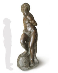 schiavo-ribelle-michelangelo-bronzo-silhouette