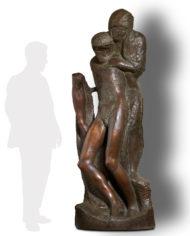 pieta-rondanini-michelangelo-bronzo-silhouette