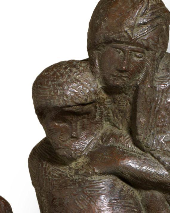 replica in bronzo scultura pietà rondanini di michelangelo fusa dalla fonderia marinelli e in vendita presso la galleria bazzanti di firenze