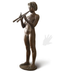 pan-pifferi-benvenuti-bronzo-silhouette