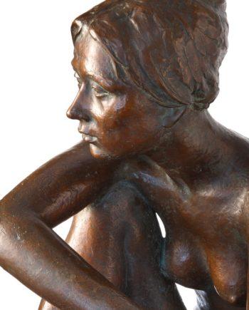 galleria bazzanti firenze scultura in bronzo dopo la danza bellini fusa dalla fonderia artistica ferdinando marinelli