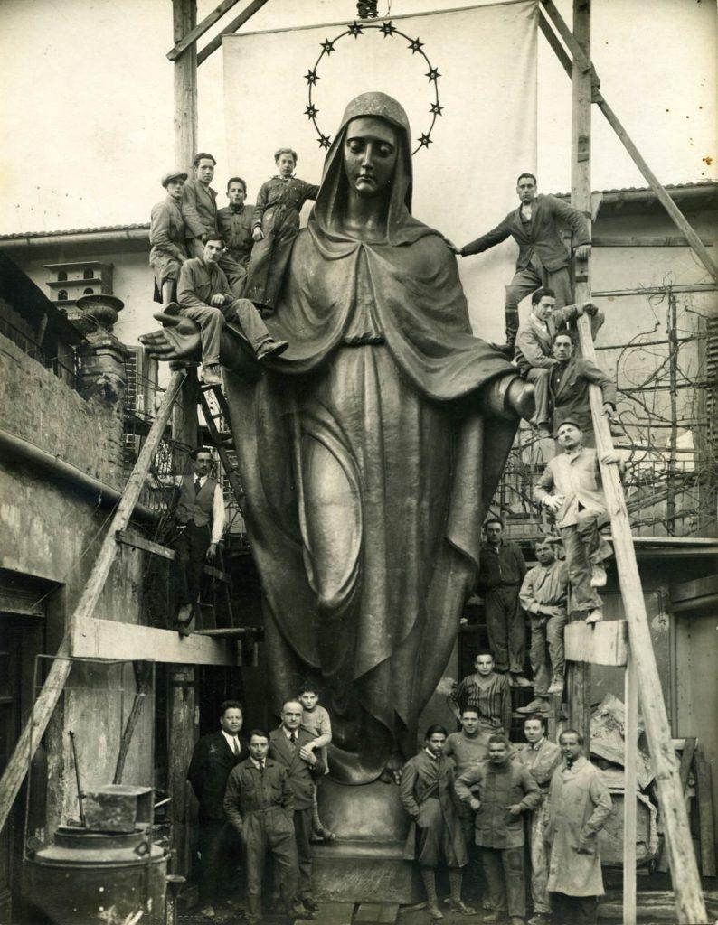 santa maria degli angeli assisi fusa dalla fonderia marinelli di firenze scultura in bronzo galleria bazzanti firenze scultura in bronzo
