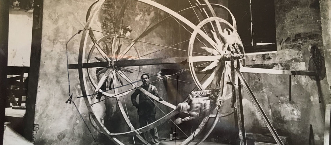 restauro sfera celeste palazzo nazioni unite ginevra fonderia artistica ferdinando marinelli firenze galleria bazzanti foto sfera 1939