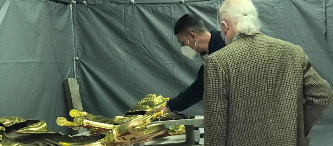 restauro sfera celeste palazzo nazioni unite ginevra fonderia artistica ferdinando marinelli firenze galleria bazzanti doratura