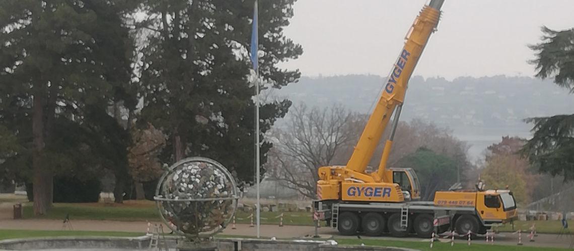 restauro sfera celeste palazzo nazioni unite ginevra fonderia artistica ferdinando marinelli firenze galleria bazzanti smontaggio sfera