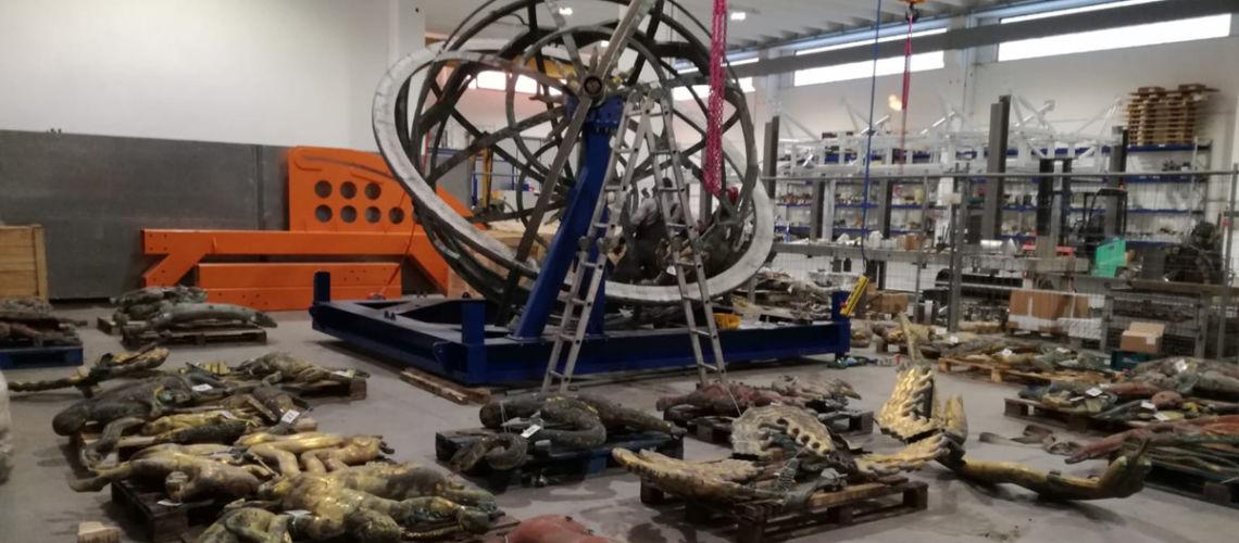 restauro sfera celeste palazzo nazioni unite ginevra fonderia artistica ferdinando marinelli firenze galleria bazzanti restauro
