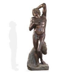 schiavo-morente-michelangelo-bronzo-silhouette