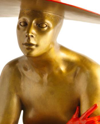scultura in bronzo serenata opera originale dello scultore sergio benvenuti fusa dalla fonderia artistica ferdinando marinelli in vendita presso la galleria bazzanti di firenze