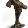 scultura in bronzo pappagallo di sirio tofanari fuso dalla fonderia artistica ferdinando marinelli di firenze e in vendita presso la galleria bazzanti di fi