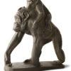 scultura in bronzo scimpanzé con piccolo di sirio tofanari fuso dalla fonderia artistica ferdinando marinelli di firenze e in vendita presso la galleria bazzanti di fi