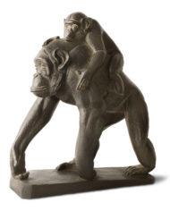 scimpanze-con-cucciolo-tofanari-bronzo