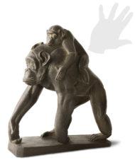 scimpanze-con-cucciolo-tofanari-bronzo-silhouette